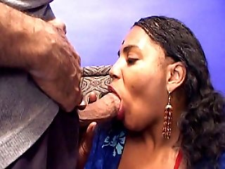 Meet Nandi, a lusty Indian girl with sexy dark skin and an exotic face. Watch her show off her hot body to seduce a man into submitting his cock for o