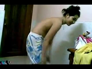 Lean Indian Wife Changing Inside Bedroom
